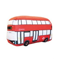 Red Bus Plush Cushion