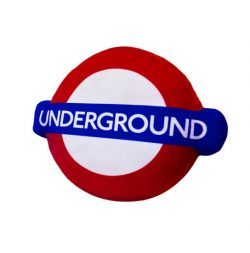 London Underground Logo Cushion