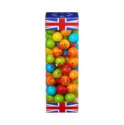 DISC  Gum balls. Union Jack Tube