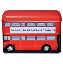 London Bus Red Tin 40 English Breakfast Teabags