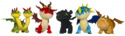 12″ HOW TO TRAIN YOUR DRAGON PLUSH 5 ASSTD