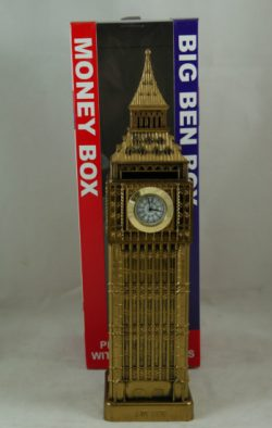 BIG BEN MONEYBOX WITH CLOCK