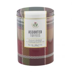 Assorted Toffee Tartan Tin