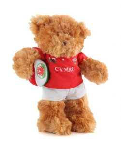 WELSH RUGBY TEDDY BEAR