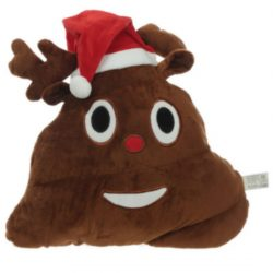 Emotive Christmas Plush Cushion – Reindeer Poop