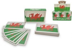 PLAYING CARDS WALES FLAG PLASTIC COATED