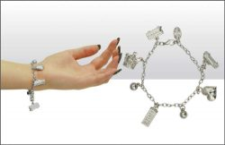 DISC Silver Colour London Icons Charm Bracelet