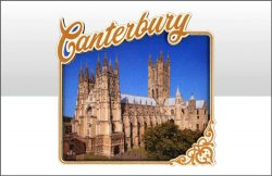 Canterbury Cathedral Wood Magnet