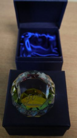 PAPERWEIGHT 50TH ANN