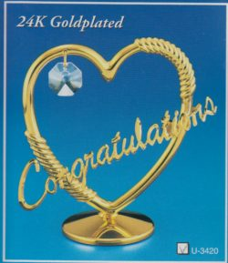 GOLD/CRYSTAL CONGRATULATIONS