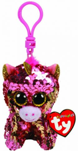 SUNSET CORAL UNICORN FLIPPABLE  – CLIP