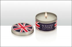 Union Jack Vanilla Scented Tin Candle