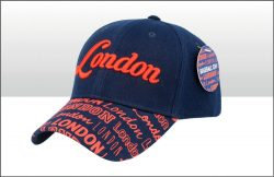 London Printed Peak Baseball Cap