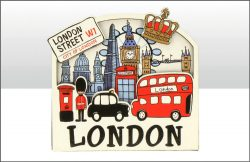 Lovable London Wood Magnet