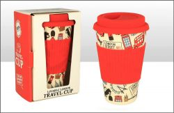 Lovable London Bamboo Fibre Travel Coffee Cup
