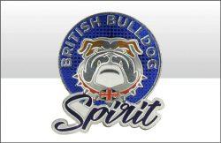 British Bulldog Spirit Round Foil Stamped Magnet