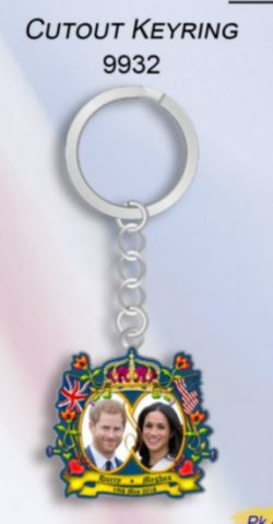 ROYAL WEDDING CUTOUT KEYRING