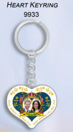 ROYAL WEDDING HEART KEYRING