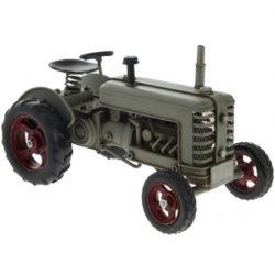 METAL ART TRACTOR – GREY