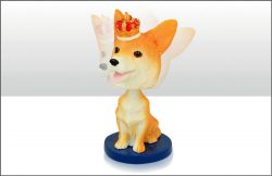 Corgi Bobble Head Figure
