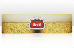 British Beer Bar Mat