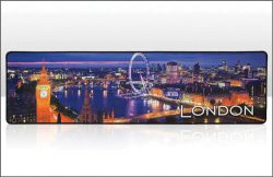 London Night Skyline Beer Bar Mat