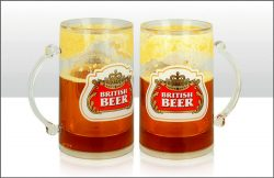 British Beer Liquid Filled Tankard 400ml
