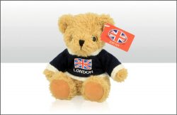 London 15cm UJ Jumper Soft Toy Bear