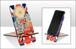 London Montage Wood Mobile Phone Stand
