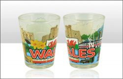 Wales & Flag Skyline Shot Glass