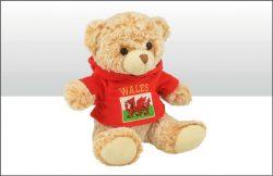 Wales 20cm Fleece Hoodie Soft Toy Bear