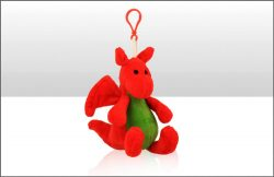 Wales Dragon 10cm Soft Toy Keyring