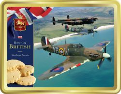 400g SHORTBREAD TIN – WWII TRIO OF PLANES