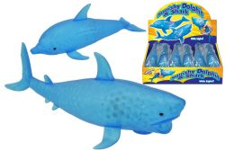 LIGHT UP SQUISHY DOLPHIN & SHARK WITH LIGHT