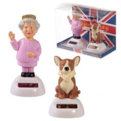 Queen and Corgi Solar Pal Set