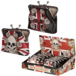 Skulls & Roses Union Jack Tic Tac Purse