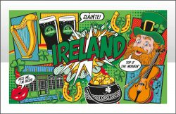 Ireland Pop Art Tea Towel
