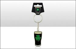 Irish Stout Metal Keyring