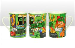 Ireland Pop Art Lippy Mug
