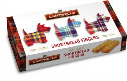 150g Tartan Dog Carton (Shortbread Fingers)