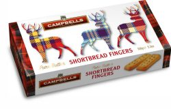 150g Tartan Stags Carton (Shortbread Fingers)