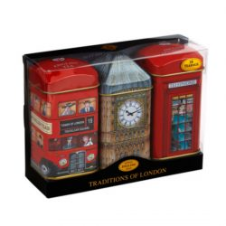 Triple tin pack – 28 teabags Bus, Big Ben, Phone Box 56g