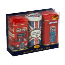 Triple tin pack – 28 teabags Bus, Union Jack, Phone Box 56g
