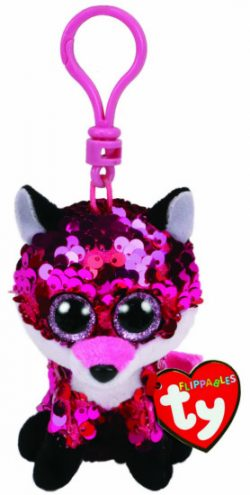 TY FLIPPABLE KEY CLIP JEWEL FOX