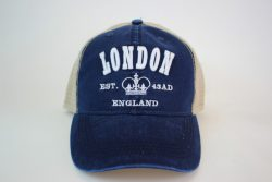 London Emblem 3D Mesh Cap Navy