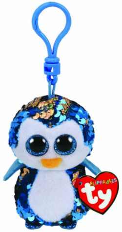 TY FLIPPABLE KEY CLIP – PAYTON PENGUIN