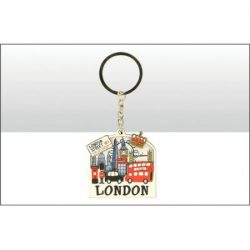 Lovable London Wood Keyring
