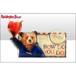 Paddington Bear Movie Wood Magnet with Epoxy