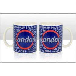 London Circle Glitter Mug 11oz