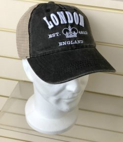 LONDON EMBLEM 3D MESH BACK CAP BLACK